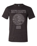South Dakota State Seal Triblend Unisex T-Shirt