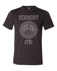 Vermont State Seal Triblend Unisex T-Shirt