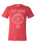 West Virginia State Seal Triblend Unisex T-Shirt