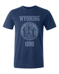 Wyoming State Seal Triblend Unisex T-Shirt