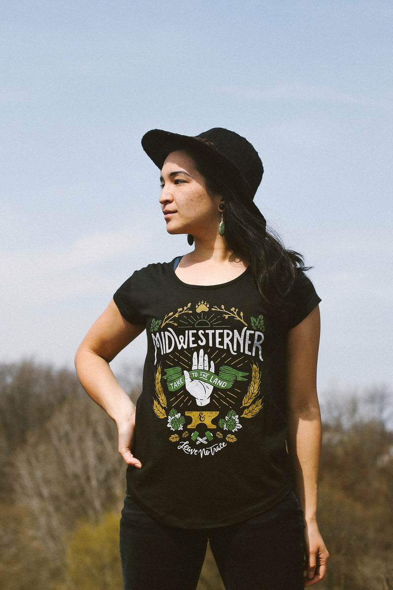 Leave No Trace Midwesterner Black Ladies Shirt