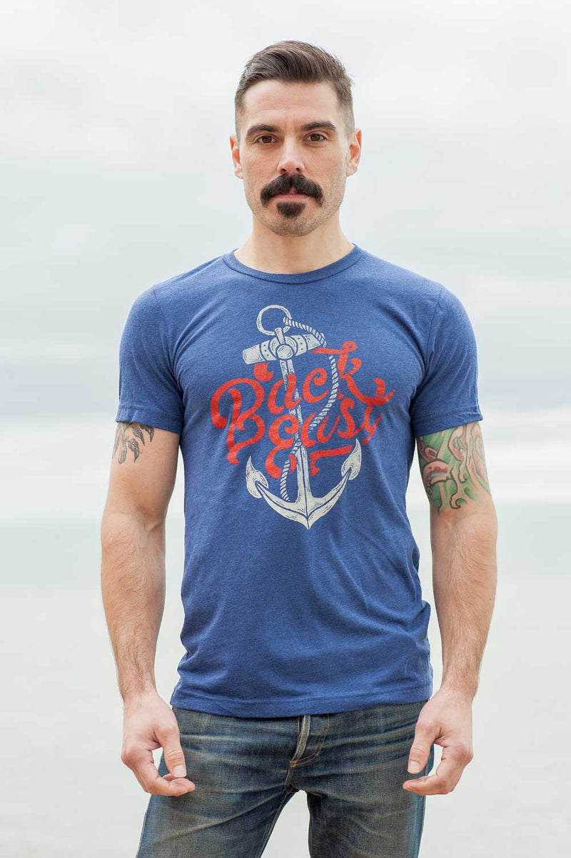 Back East Triblend Navy Unisex T-Shirt