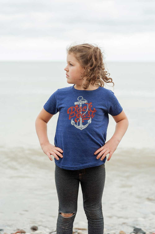 Back East Triblend Indigo Toddler T-Shirt