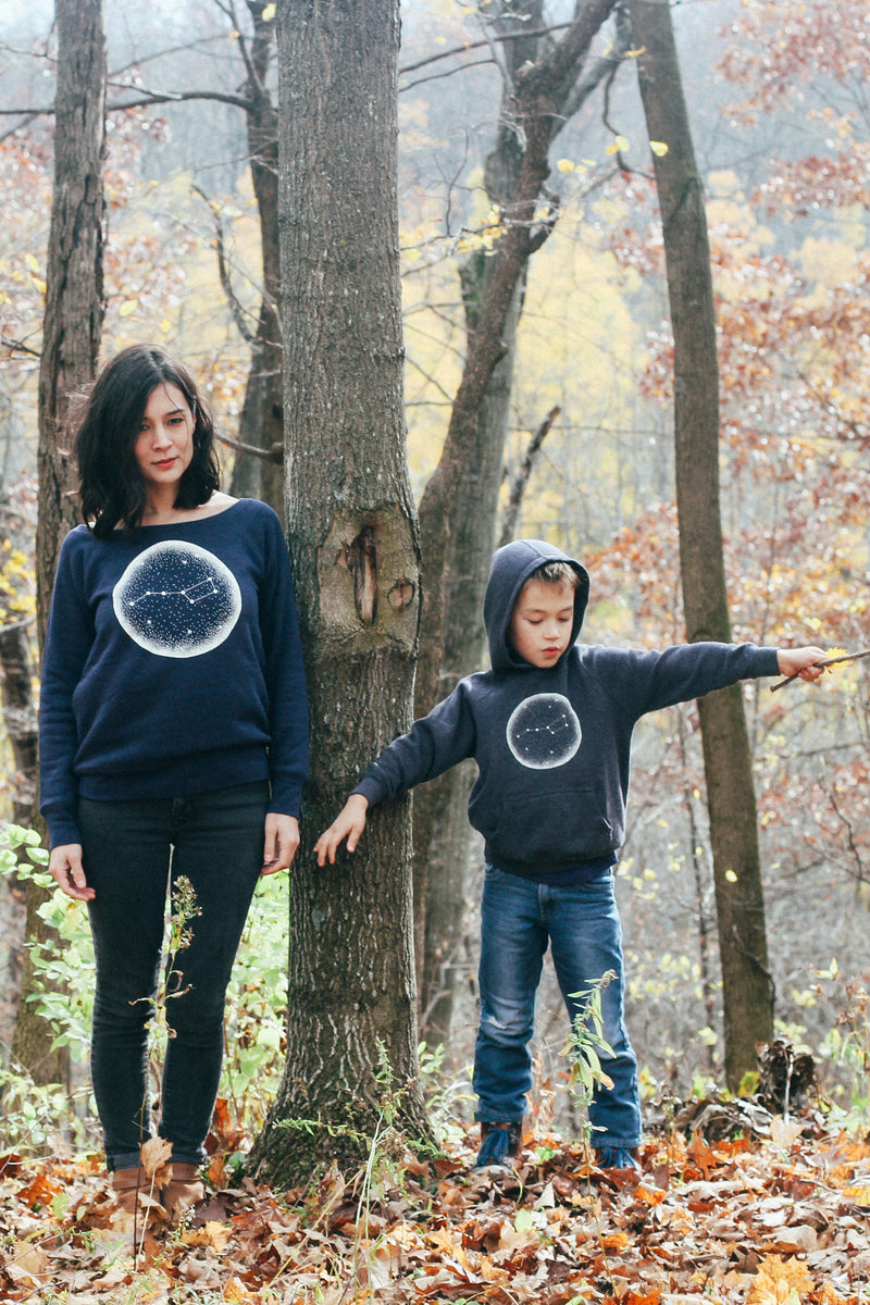 Matching Shirt Discount Set: Little Dipper Ladies Sweatshirt & Toddler Hoodie