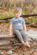 Down South Triblend Grey Toddler T-Shirt