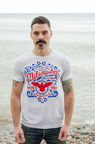 City of Milwaukee Triblend White T-shirt