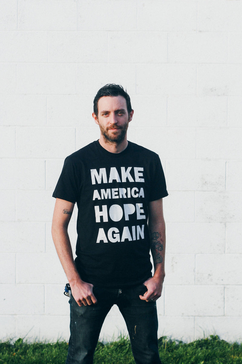 Make America Hope Again Black Ringspun Unisex T-shirt