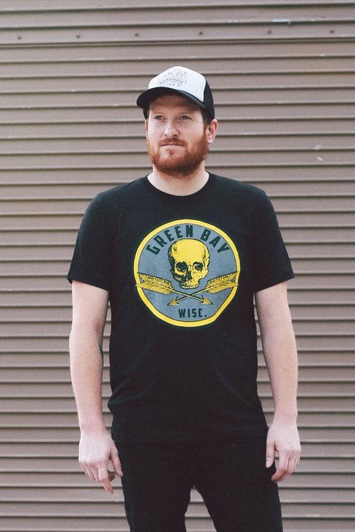 LIMITED EDITION Green Bay Packers Skull Triblend Black Unisex T-shirt