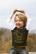 Sleep Outside Solid Black/White Raglan Toddler T-Shirt