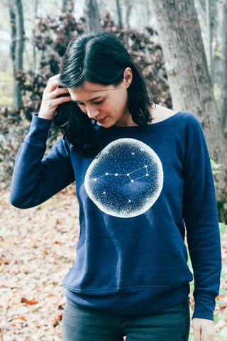 Little Dipper Indigo Ladies Sweatshirt