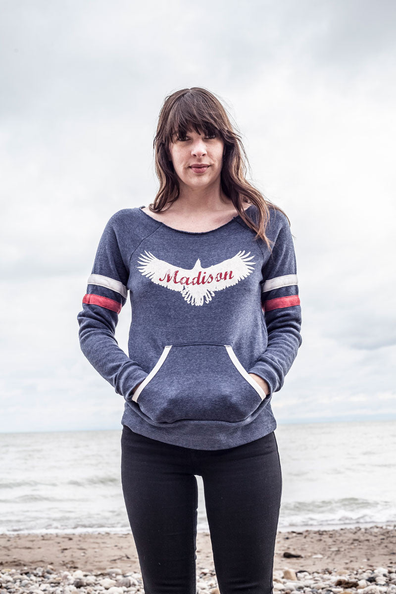 Madison Eagle Off-The-Shoulder Sweatshirt