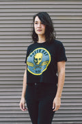 LIMITED EDITION Green Bay Packers Skull Ladies Cropped T-shirt