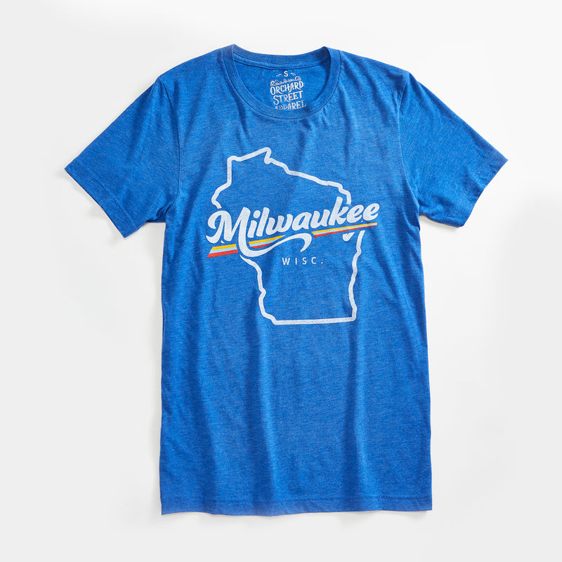 Milwaukee Prism Triblend Royal Blue Unisex T-Shirt