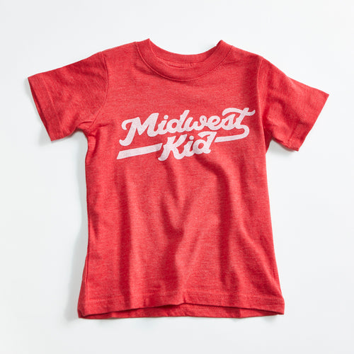 Midwest Kid Kids Triblend Red T-shirt
