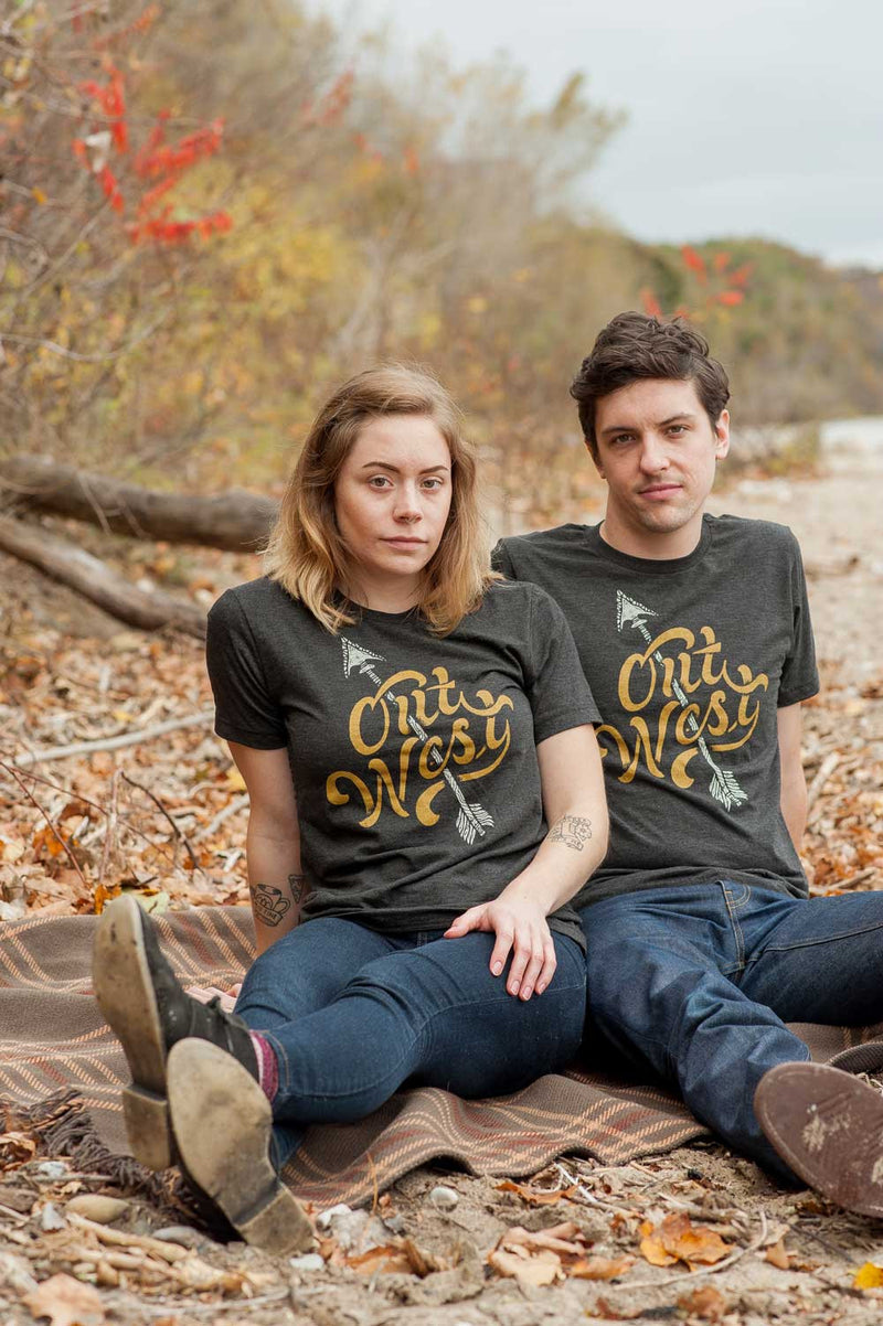 Out West Black Triblend Unisex T-Shirt