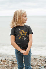 Out West Triblend Black Toddler T-Shirt