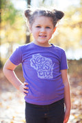 Represent Wisconsin Script Triblend Purple Toddler T-shirt