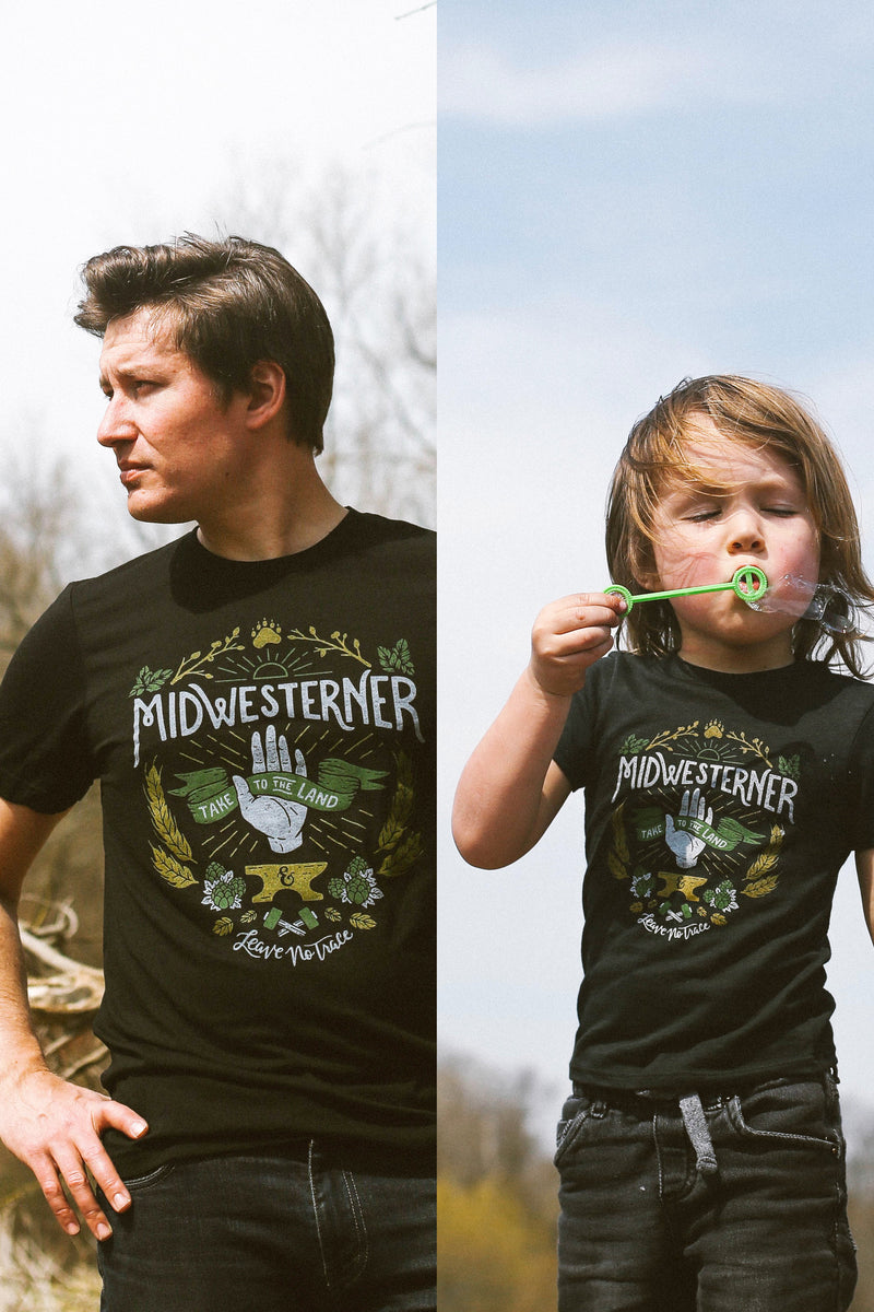 Matching Shirt Discount Set: Leave No Trace Midwesterner Adult Unisex T-Shirt & Toddler T-shirt