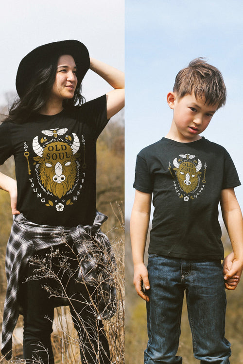 Matching Shirt Discount Set: Old Soul Adult Unisex T-Shirt & Toddler T-shirt