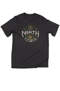 Up North Cabin Triblend Black Unisex T-shirt