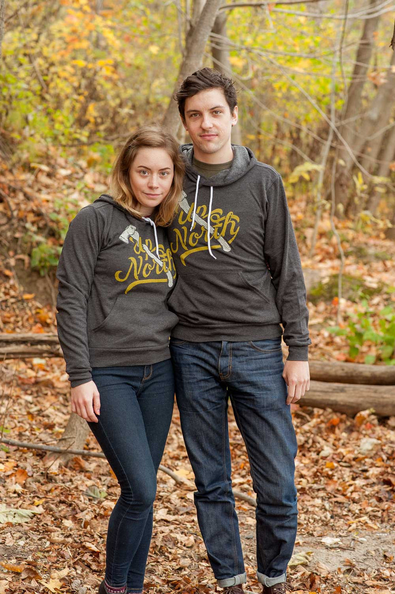 Up North Charcoal Grey Unisex Hoodie