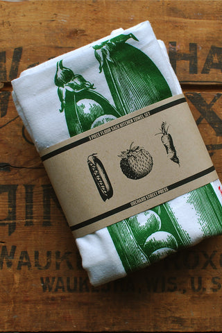 Towel Set: Eat your fruits & veggies