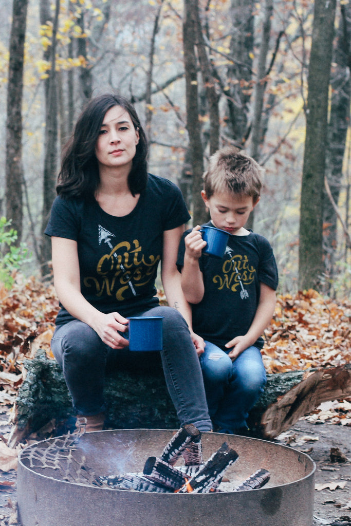Matching Shirt Set: Out West Adult Ladies Shirt & Toddler T-shirt