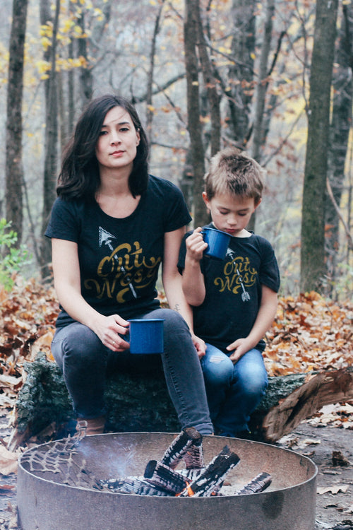 Matching Shirt Discount Set: Out West Adult Ladies Shirt & Toddler T-shirt
