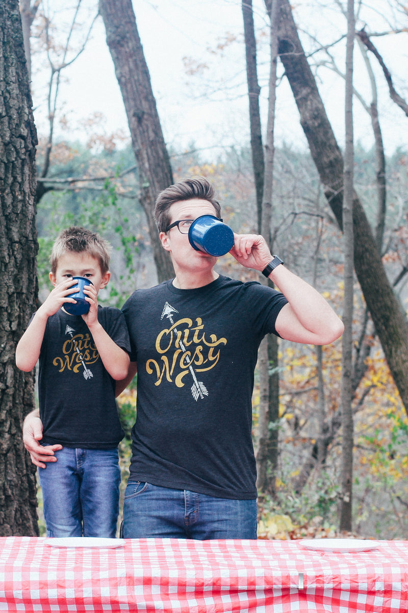 Matching Shirt Set: Out West Adult Unisex Shirt & Toddler T-shirt
