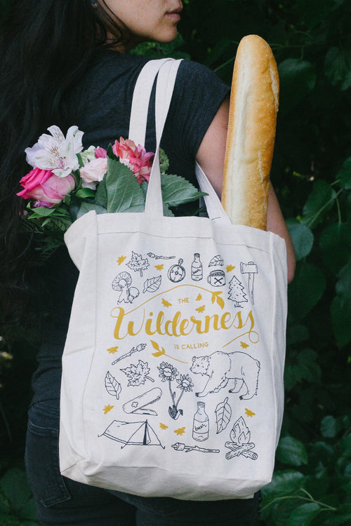 The Wilderness is Calling Canvas Tote Bag