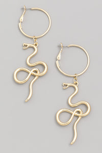 Snake Dangle Hoops