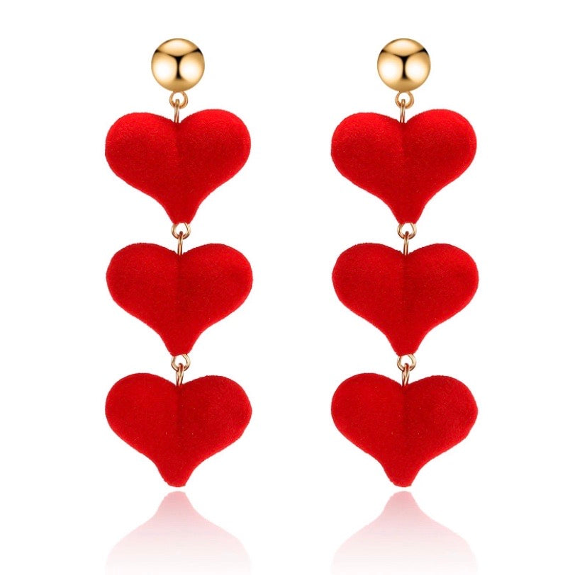 Heart Drop Dangle Earrings