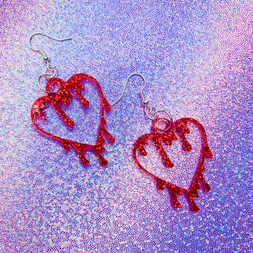 My Bloody Valentine Earrings - Shop Solani