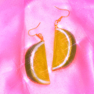 Lime Wedge Earrings