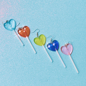 Heart-Shaped Lollipop Earrings