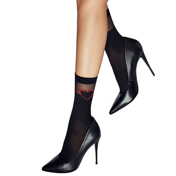 Penti Red Heart Fashion Ankle High - fashiontight.uk