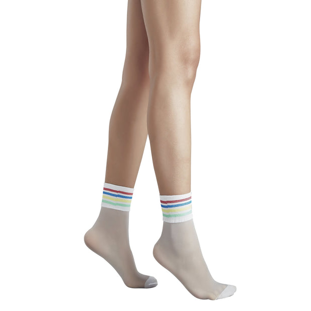 Penti Rainbow Stripe Fashion Ankle Highs - fashiontight.uk