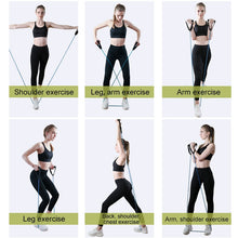 Load image into Gallery viewer, PULL ROPE ELASTIC RESISTANCE BANDS FOR FITNESS