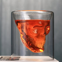 Load image into Gallery viewer, Skull Head Whiskey Glass