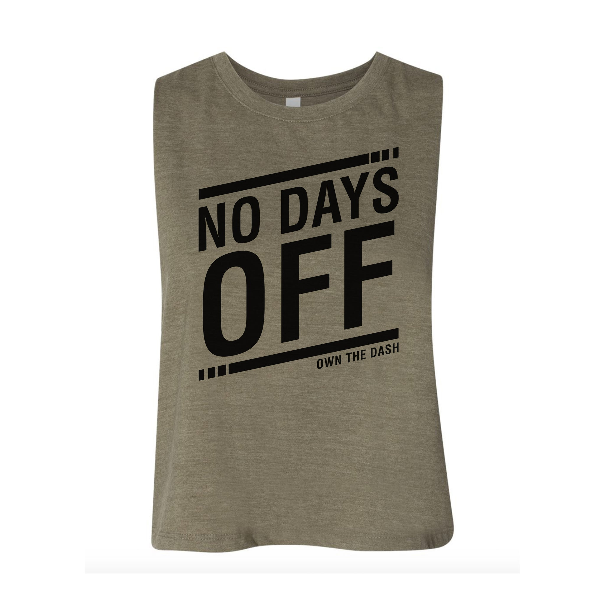 No Days Off Ladies Crop Tank