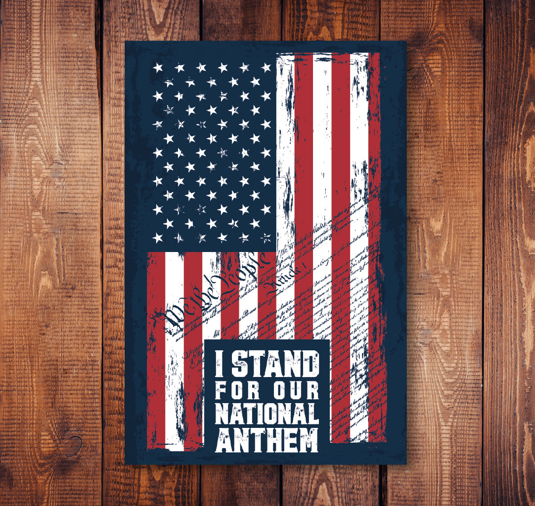 I Stand For The National Anthem Sticker