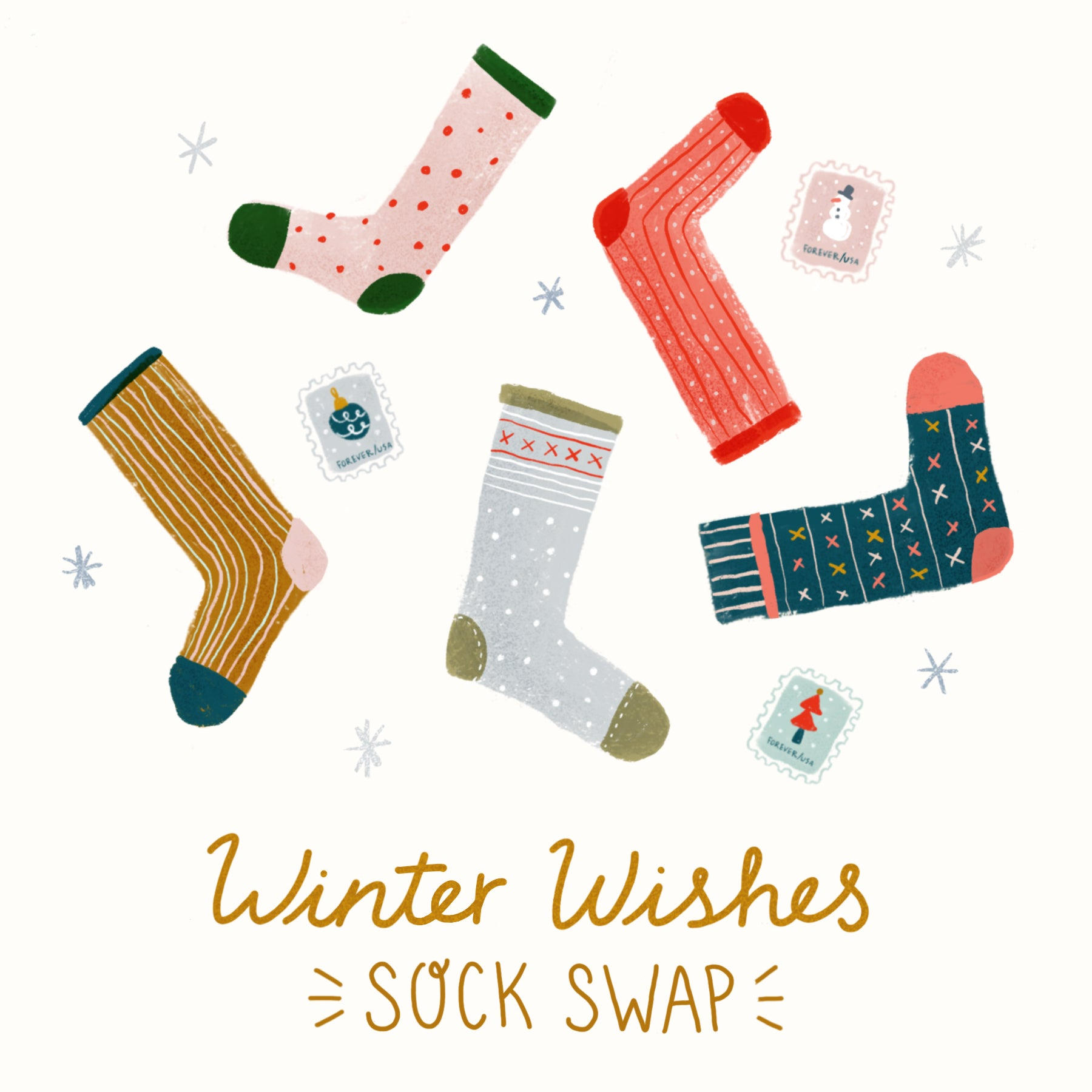 winter wishes sock swap