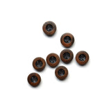 Wooden Buttons with Black Center