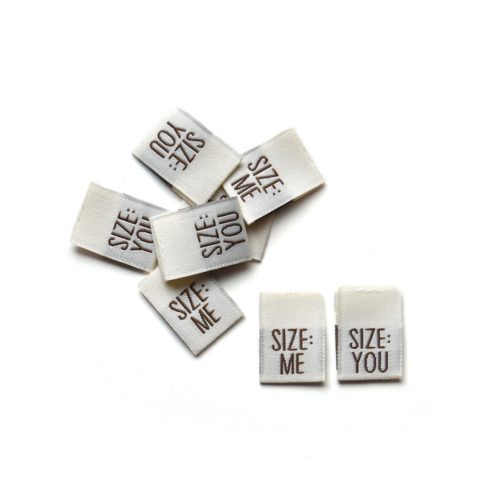 Size: You/Me - Woven Label