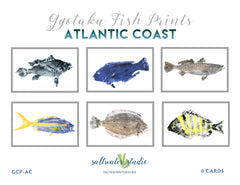 Atlantic Coast Fish Print Card Package