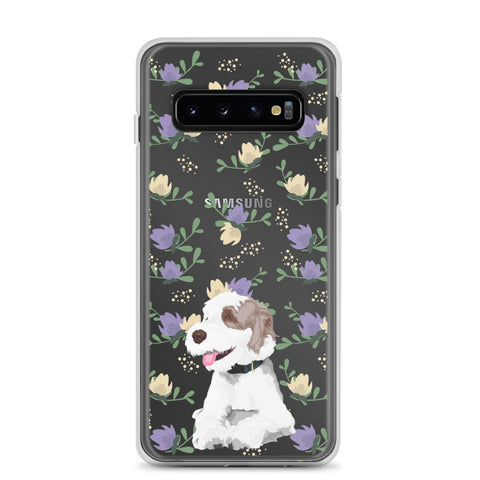 Samsung Case - purple and yellow flowers