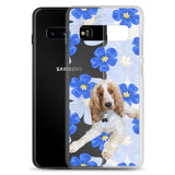 Samsung Case - Blue watercolor Flower