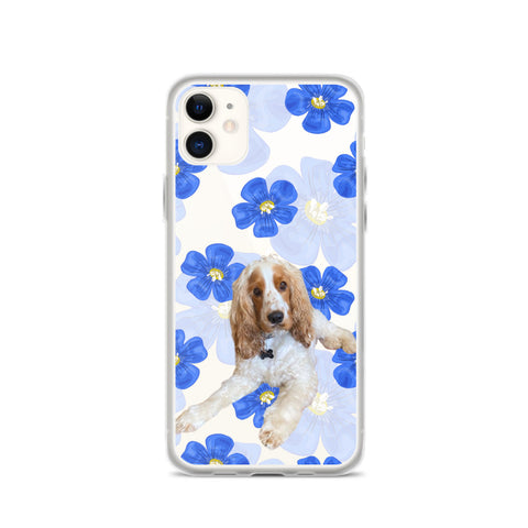 iPhone Case - Blue Watercolor Flowers