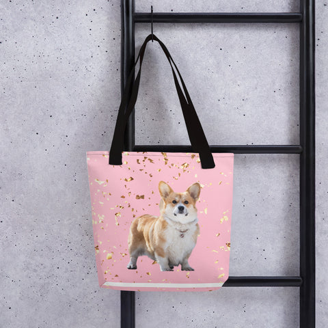 Beach Bag - pink and gold