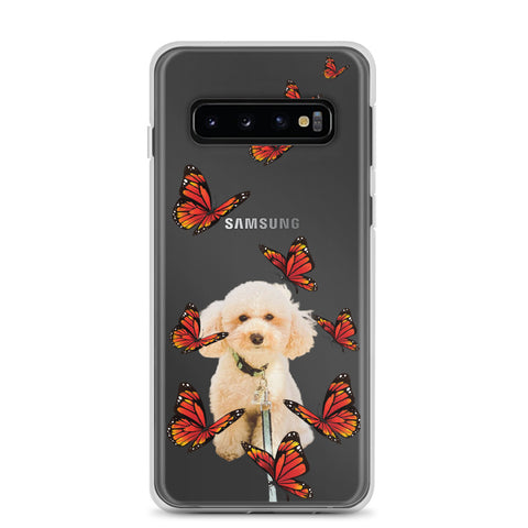 Samsung Case - red butterflies